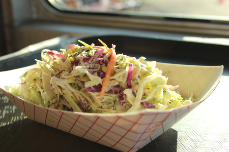 Cole slaw at Ms P's Electric Cock restaurant in Austin